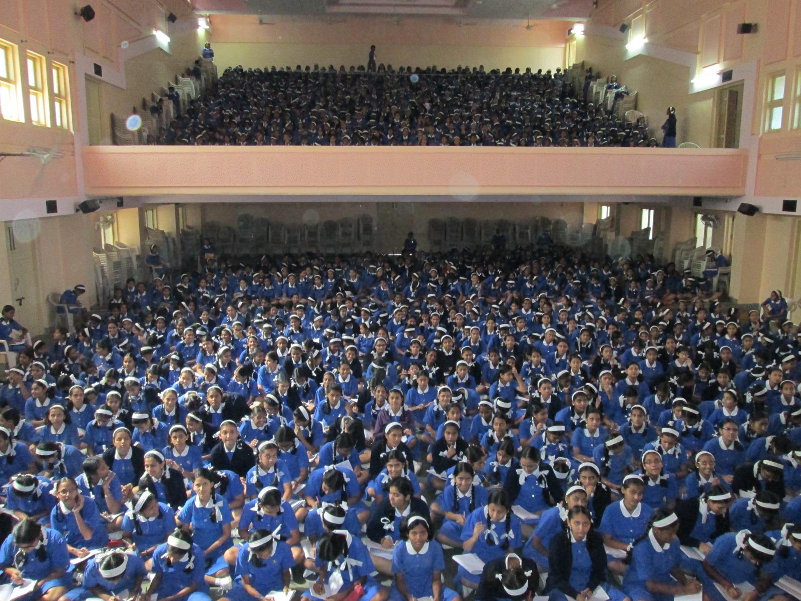 1200 girls at Canossa School Mumbai