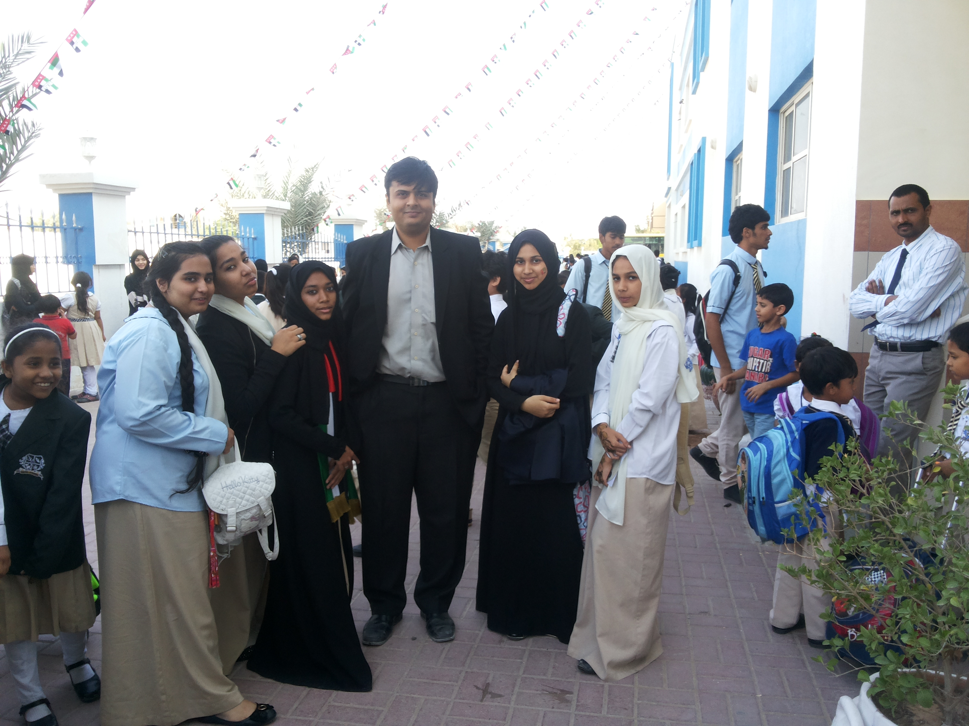 With girls of Pakistan origin at a school in UAE. Education can bridge us together! Pray!!