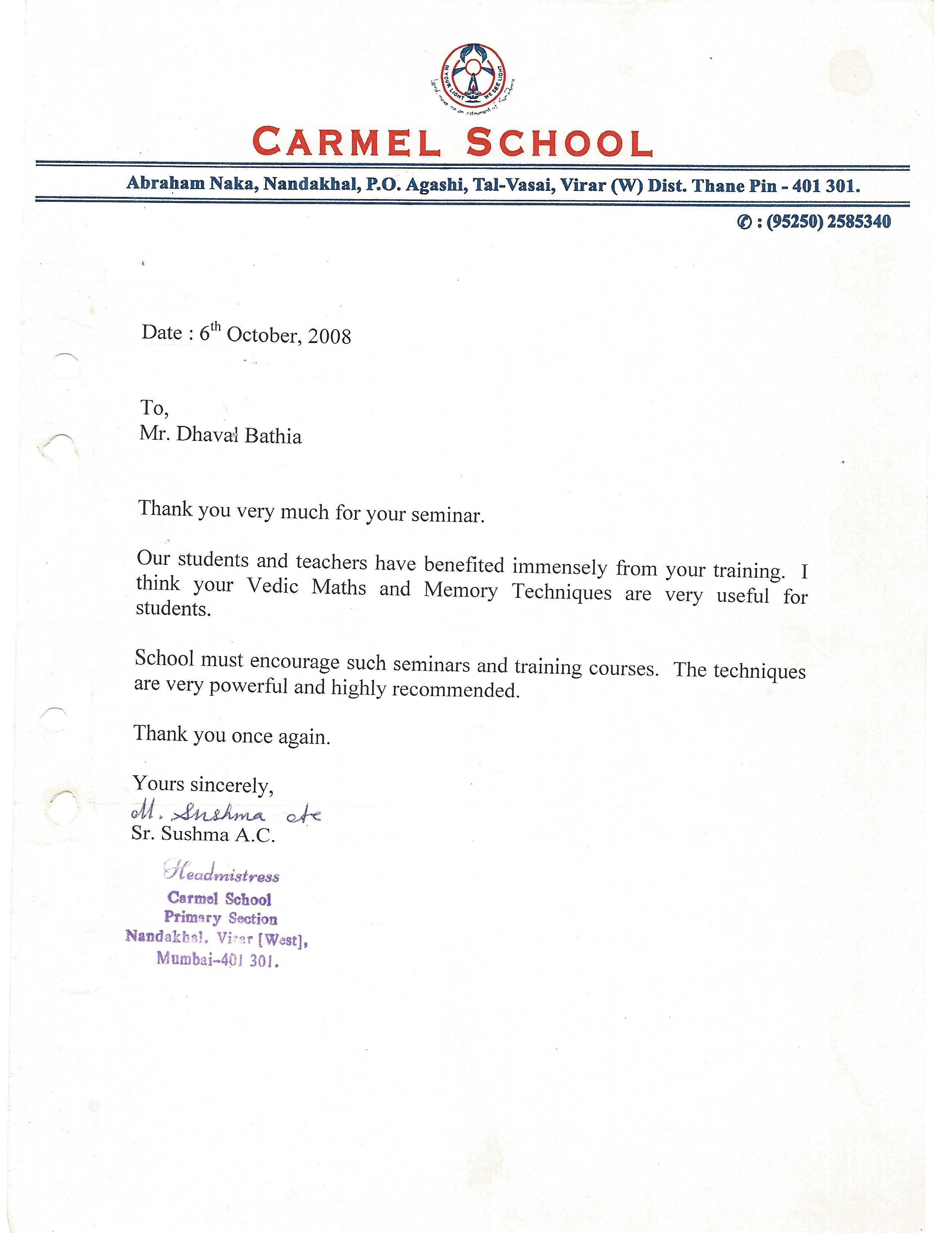 Carmel School Mumbai