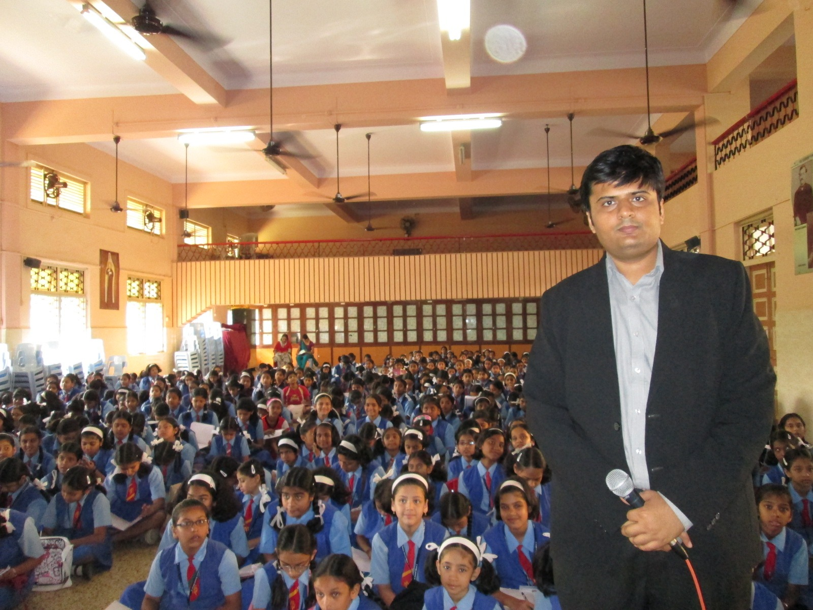 Dhaval Bathia with Students