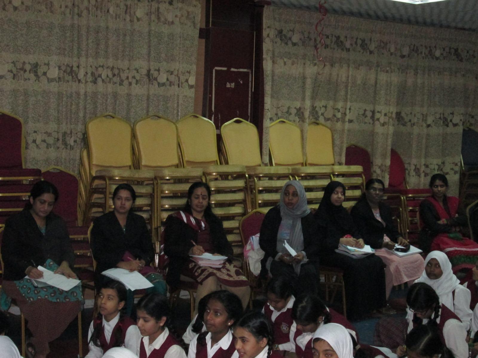 Teachers enjoying the workshop!