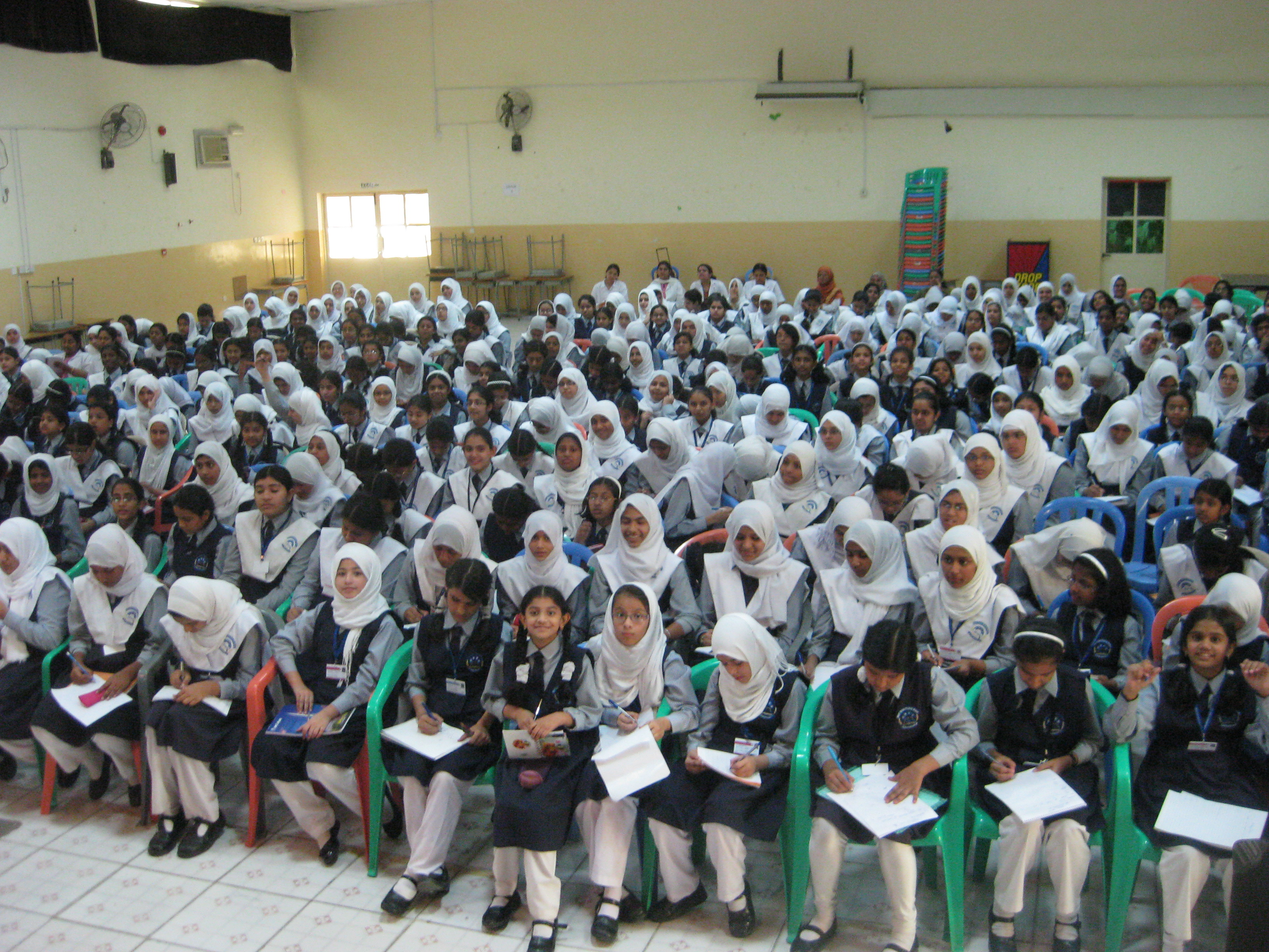 Separate batches for boys and girls in middle east schools