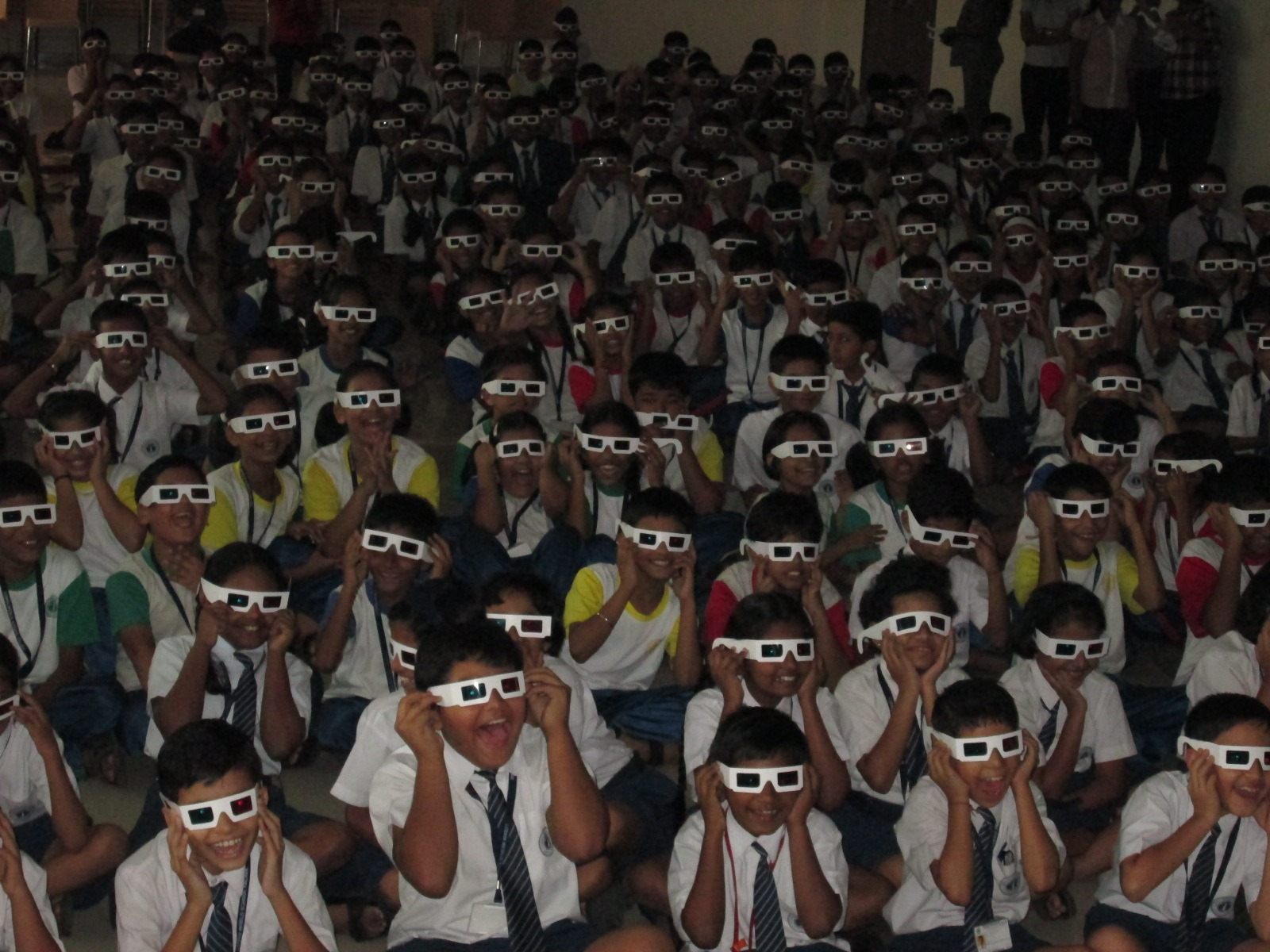 Students enjoying a 3D Learning Lecture