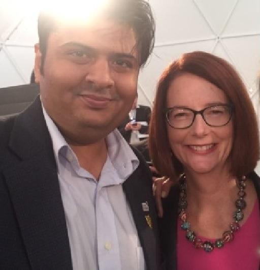 With Australian Prime Minister Ms. Gulia Gillard