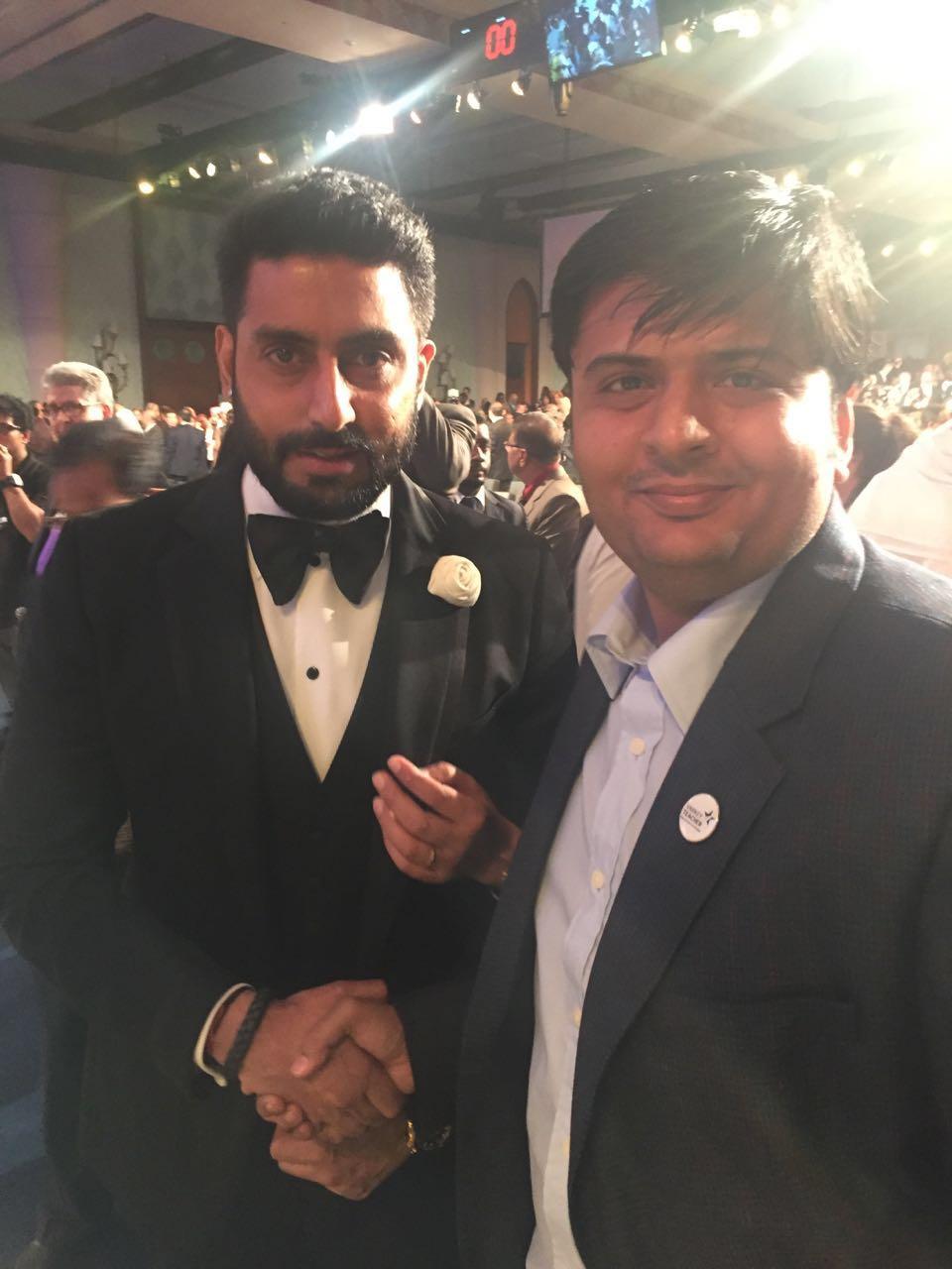 With Bollywood Actor Abhishek Bachchan