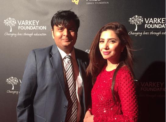 With Bollywood Actress Mahira Khan