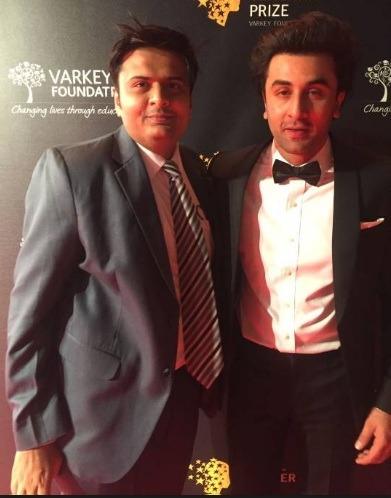 With Bollywood Star Ranbir Kapoor