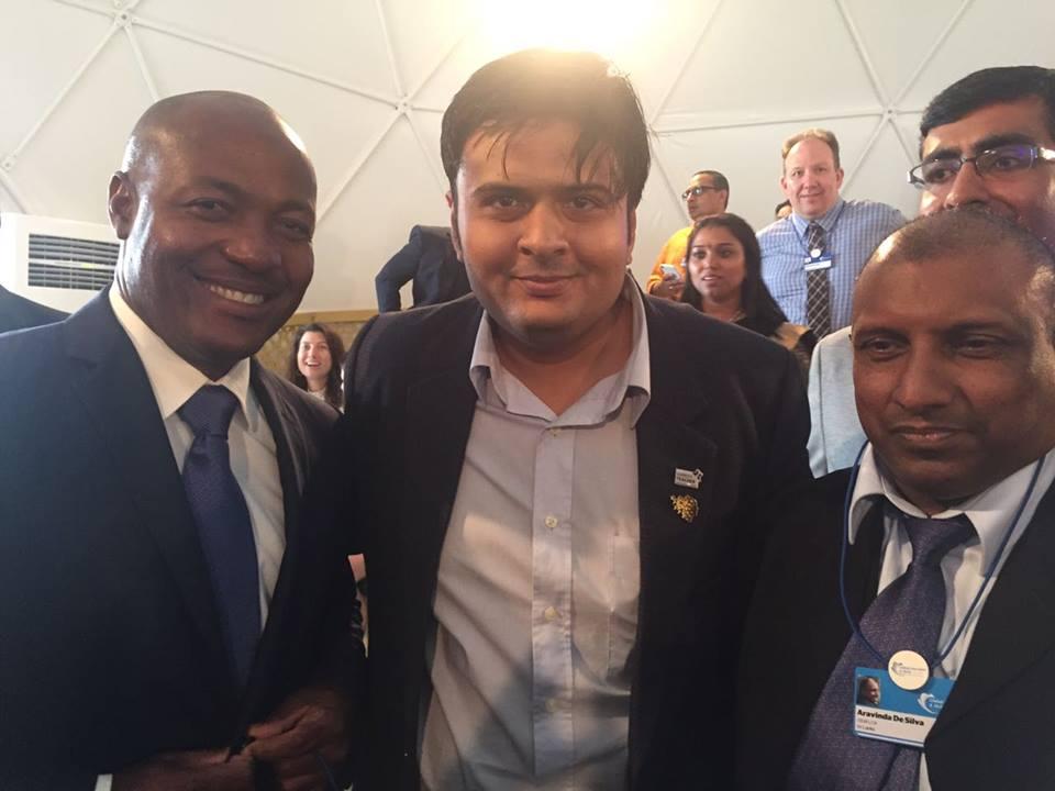 With Cricketers Brian Lara and Aravinda De Silva