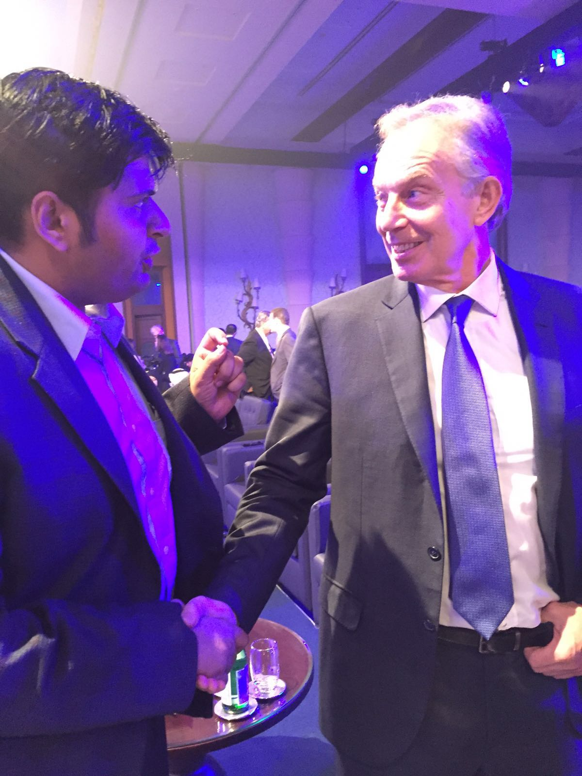 With Former UK Prime Minister Tony Blair