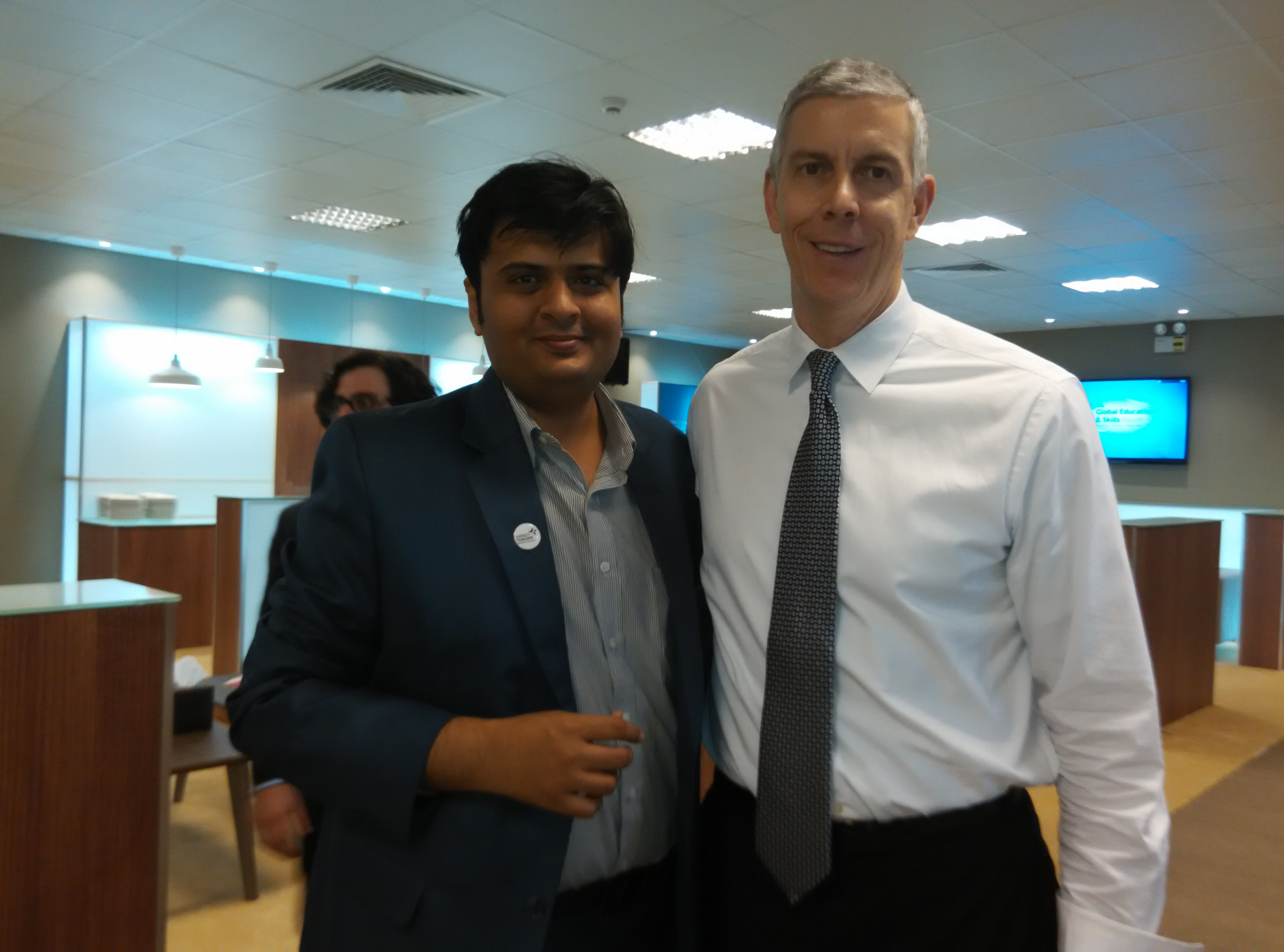 With US Secretary of Education Arne Duncan