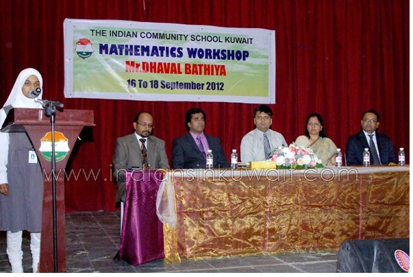 With the panel of trustees at Indian Community School, Kuwait