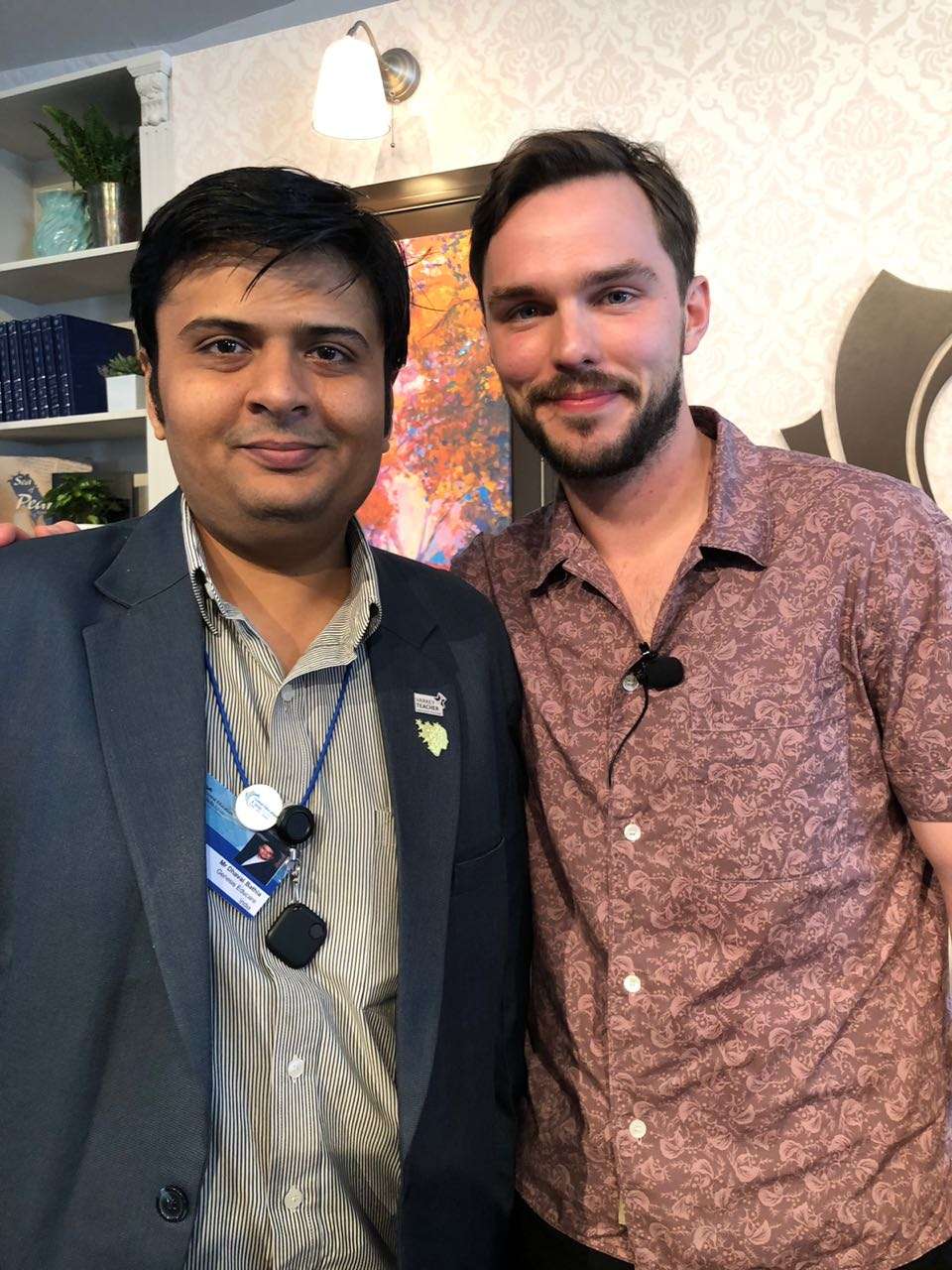 Dhaval with Actor Nicholas Hoult