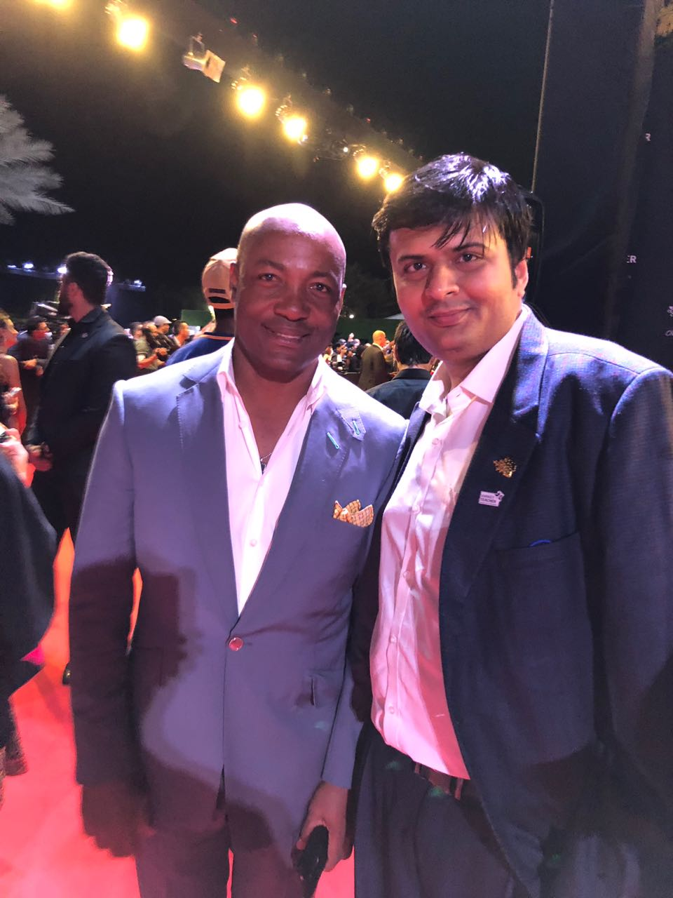 Dhaval with Cricketer Brian Lara