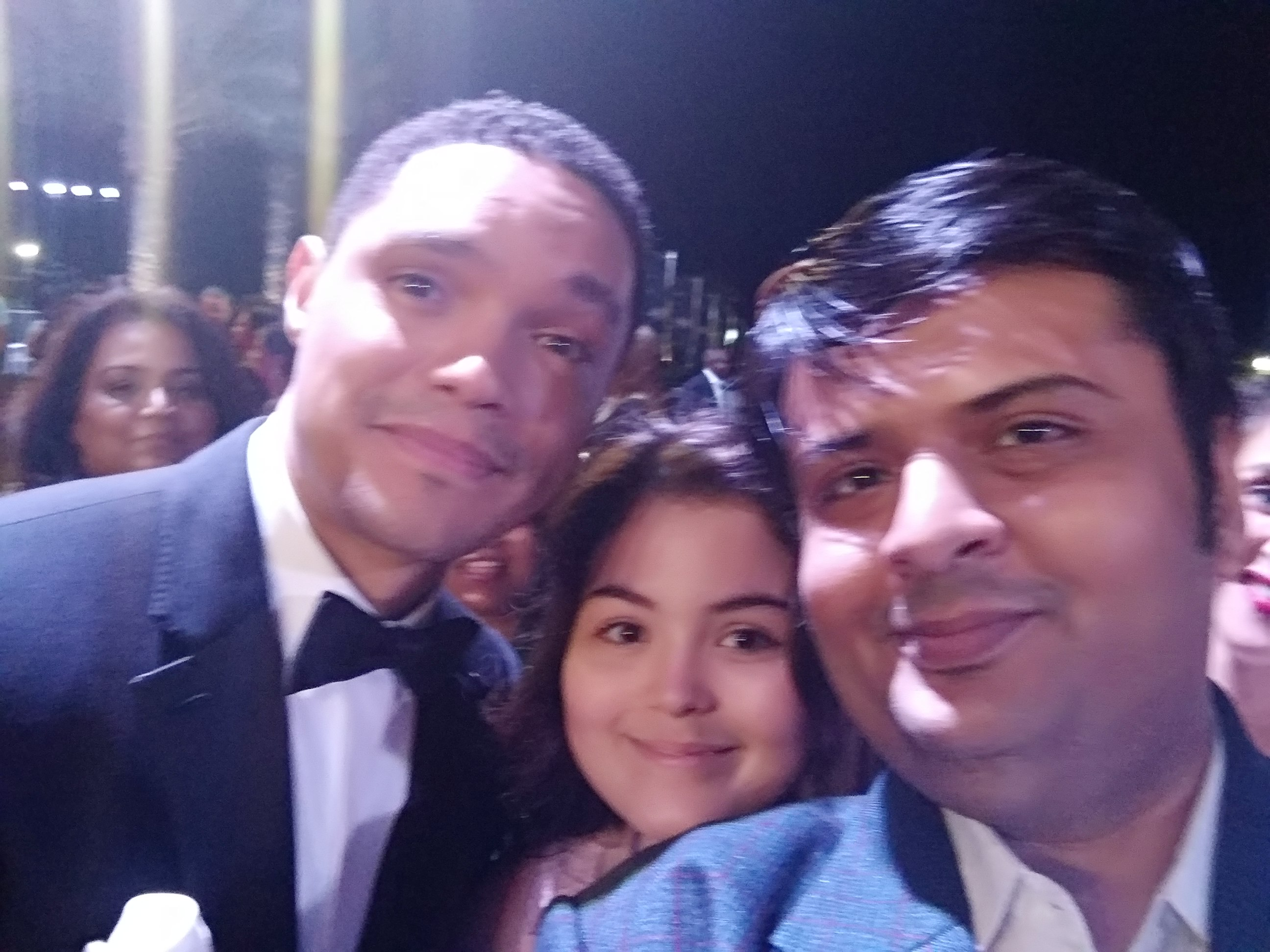 Dhaval with talk show host Trevor Noah